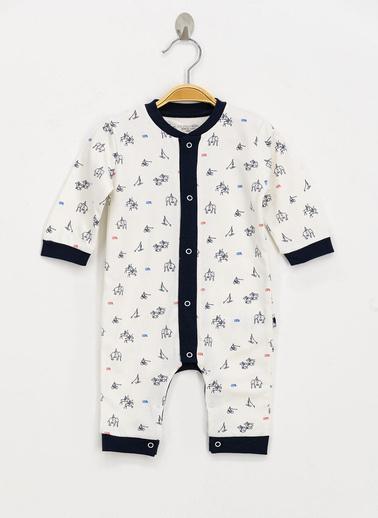 U.S. Polo Assn. Lisanslı Krem Bebek Tulum Krem